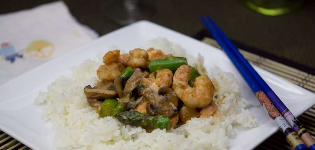 Marijuana Recipes - Shrimp and Asparagus Ginger Stir Fry
