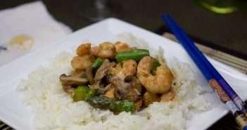 Stir Fried Ginger Shrimp and Asparagus: Marijuana Recipes