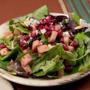 Marijuana Recipes: Mixed Green Salad with Pomegranate Vinaigrette