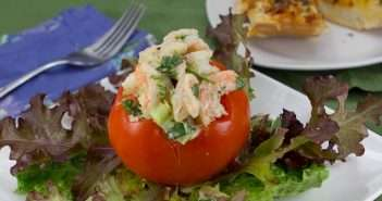 Marijuana Recipes - Shrimp Salad Stuffed Tomato