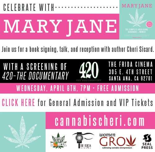 Book Launch party for Mary Jane: The Complete Marijuana Handbook for Women by Cheri Sicard.