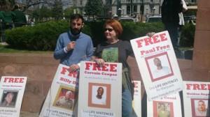 Cheri Sicard and Prisoner Posters, Denver, 4-20-15