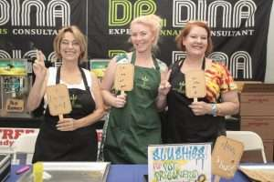 Selling Slushies for Marijuana Prisoners - L to R Stephanie Landa, Nadia Lotte, Cheri Sicard