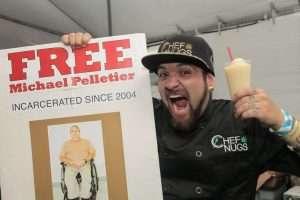 Chef Nugs enjoys a Slushie, benfitting marijuana prisoners.