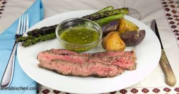 Marijuana Recipes - Flank Steak with Cheeba Chimichurri Sauce