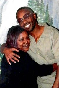 Corvain Cooper with his mother, Barbara