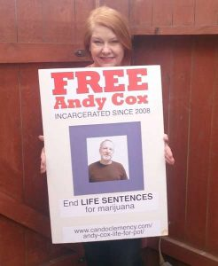 Andy Cox is Serving Life for Pot