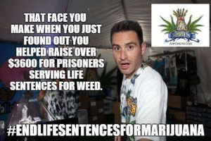 Jason Beck of AHHS West Hollywood sponsored the Marijuana Prisoners fundraising efforts at Chalice.