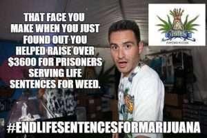Jason Beck of AHHS West Hollywood sponsored the Marijuana Prisoners fundraising efforts at Chalice.