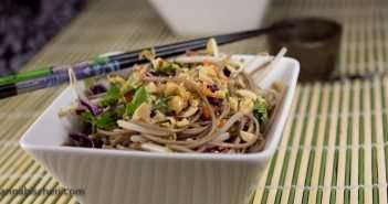 Cold Soba Noodles with Chicken and Veggies - Marijuana Recipes