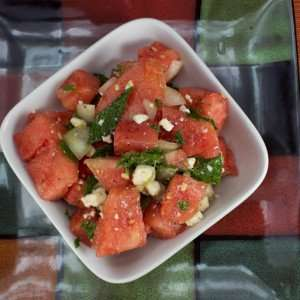 Marijuana Recipes Watermelon Cucumber Feta Salad