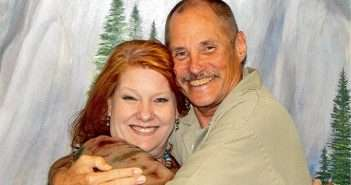 Cheri Sicard with marijuana prisoner Paul Free, serving Life Without Parole for Marijuana.