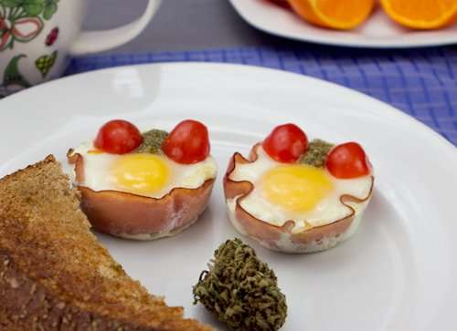marijuana recipes, baked egg cups