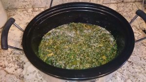 Weed oil infusing in the slow cooker