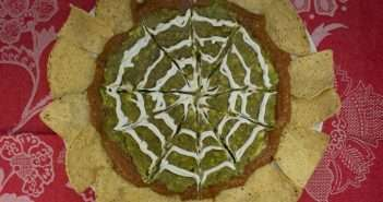 "Halloween Marijuana Recipes - Spider Web Dip with ""Baked"" Tortilla Chips"