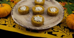 Marijuana Recipes - Mini Pumpkin Cheecakes