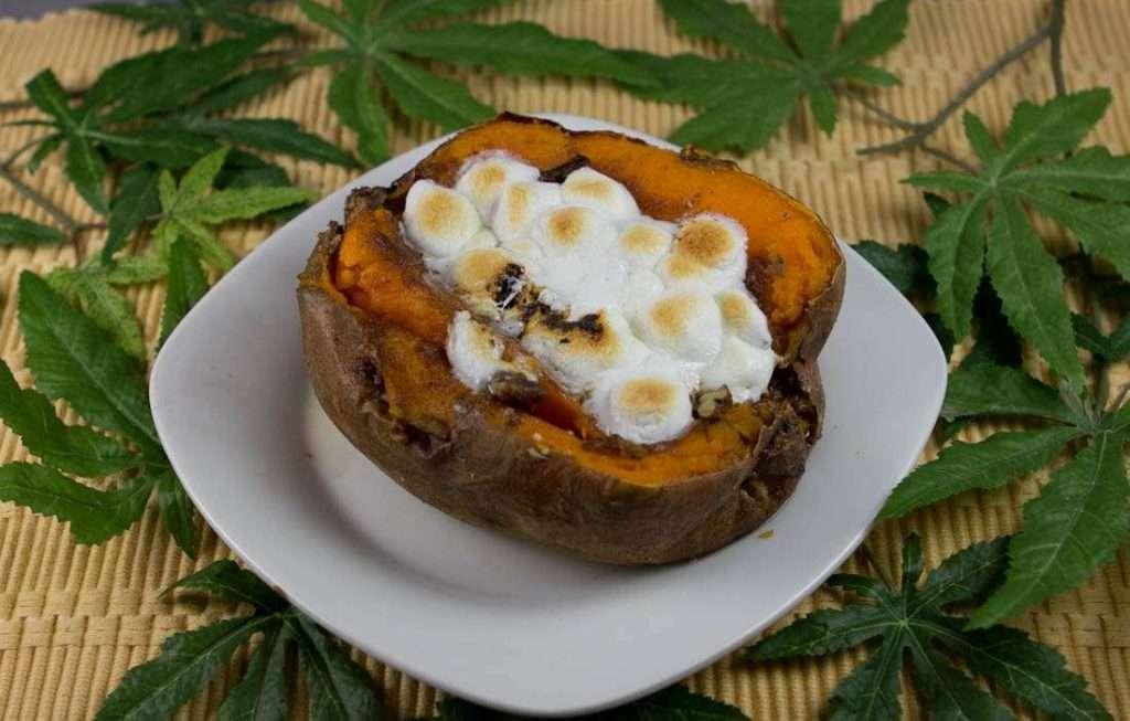Marijuana Recipes - Streusel Stuffed Sweet Potatoes