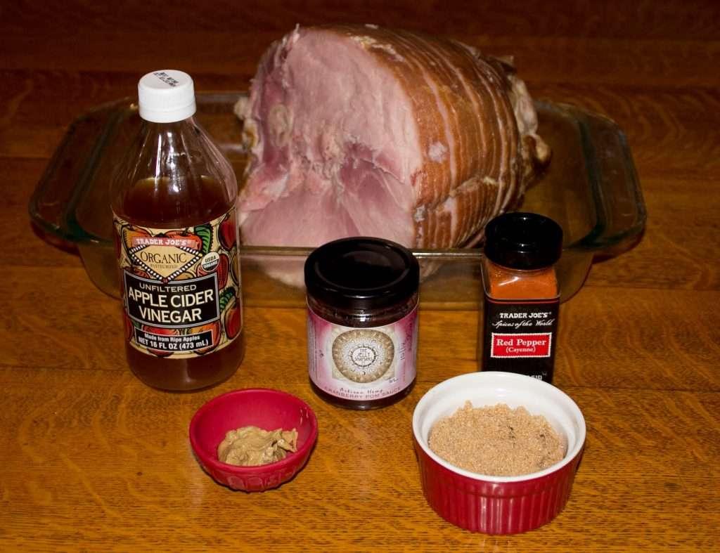 Ingredients for Cranberry Glazed Baked Ham