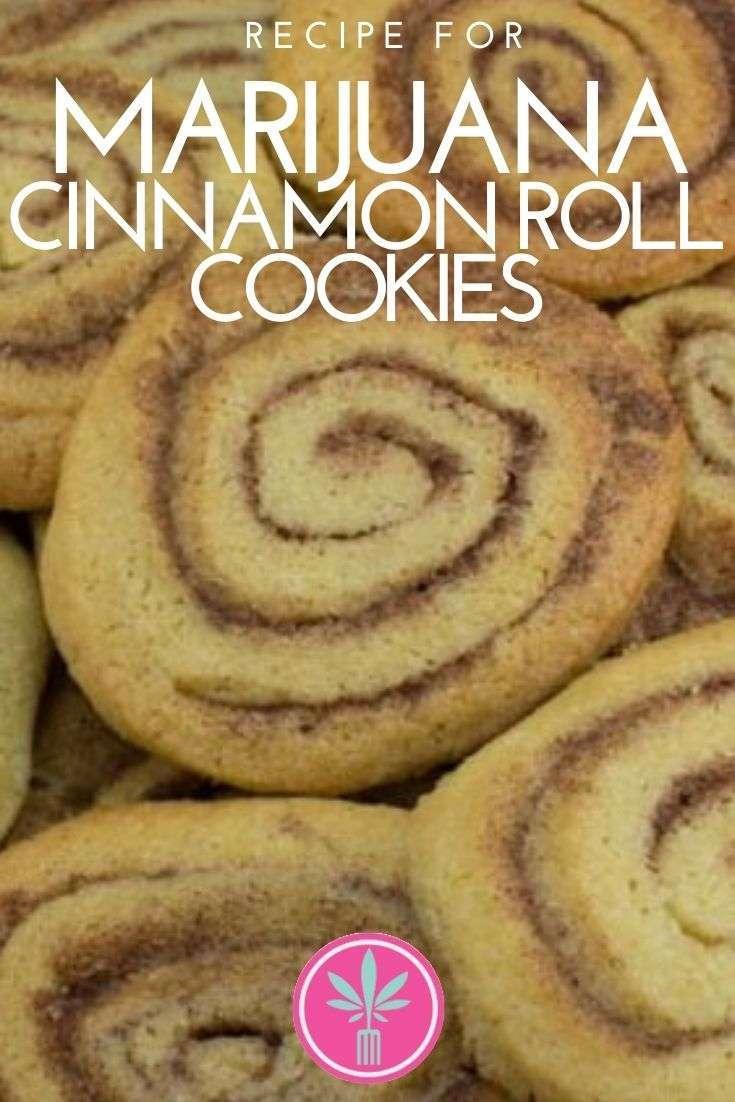 marijuana infused cinnamon roll cookies
