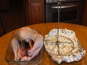 This is the apparatus for frying the turkey that I use.