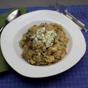 Marijuana Recipes, Blue Cheese Mushroom Risotto