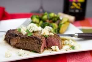 Marijuana Steak Recipes 0 Filet Mignon with marijuana Butter, Chives and Blue Cheese