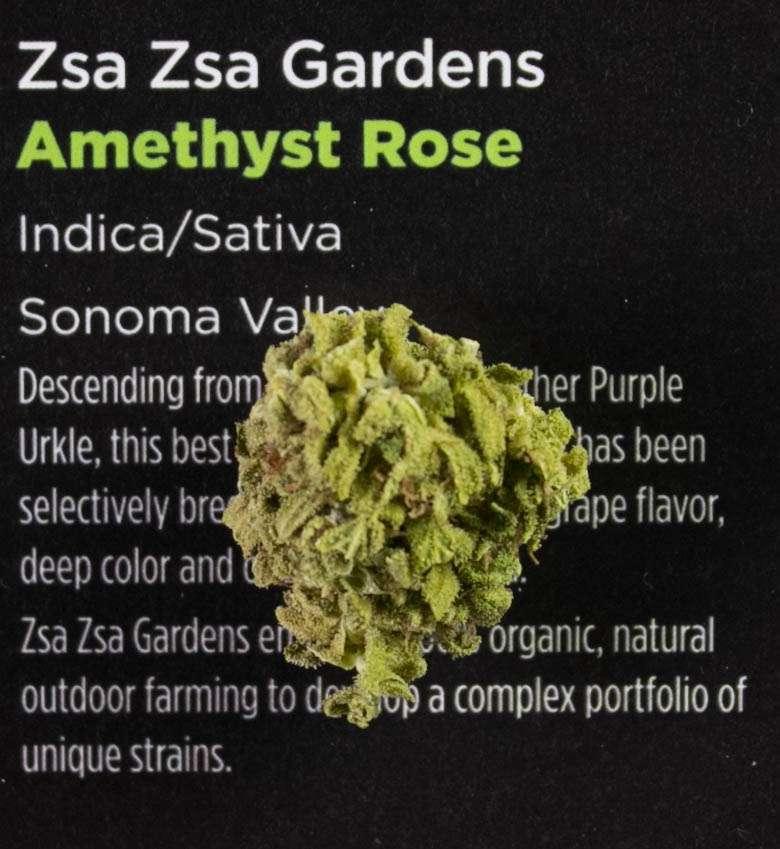 Marijuana Strain Reviews - Amethyst Rose