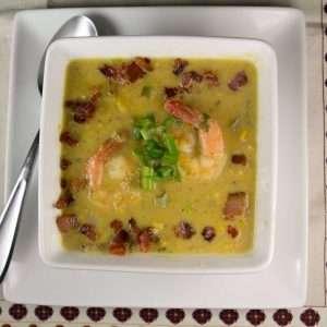 Marijuana Soups: Corn and Green Chile Chowder with Shrimp