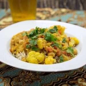 Marijuana Recipes - Tomato, Cauliflower and Garbanzo Bean Curry