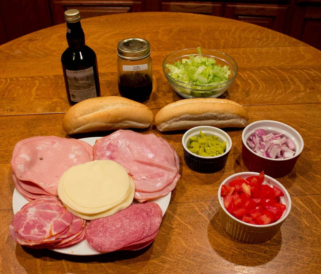Marijuana Sandwich Recipes - Ingredients for Indica Italian Sub