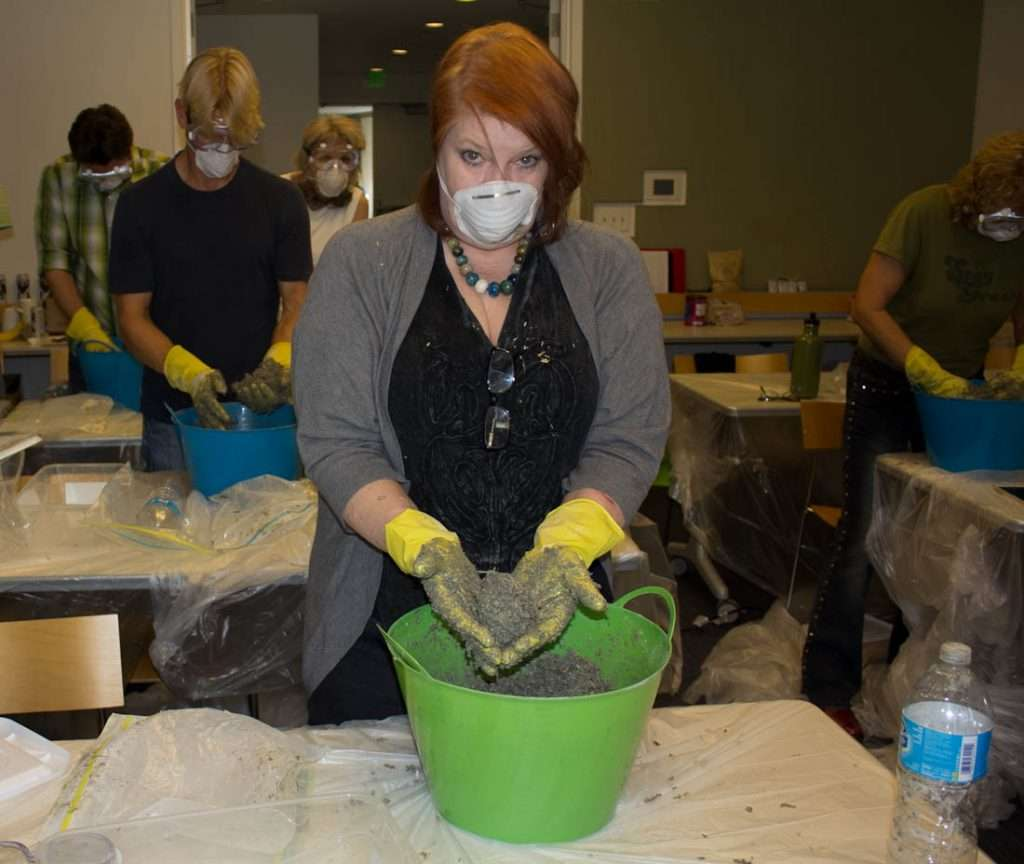 Cheri Sicard at a hemcrete workshop