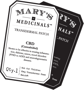 cannabis topicals, transdermal patch
