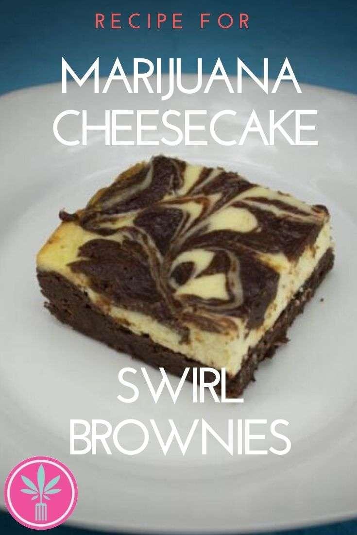 Marijuana Cheesecake Swirl Brownies
