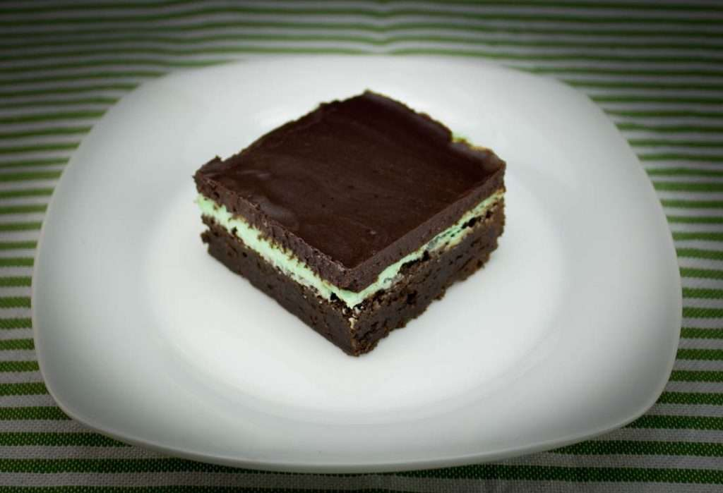 Minty Marijuana Fudge Brownie
