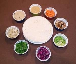 Marijuana Recipes - ingredients for Phenom Rolls Vegan Wraps