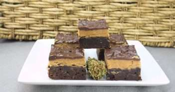 Marijuana Brownies - Peanut Butter Fudge Pot Brownies