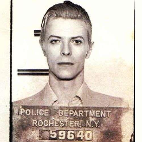 celebrity marijuana arrests - David Bowie mugshot