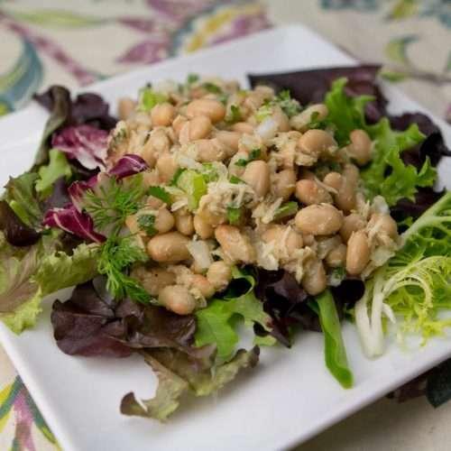 Marijuana Recipes - THC Tuscan Tuna and White Bean Salad