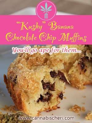 Recipe for Cannabis Infused Chocolate Chip Banana Muffins