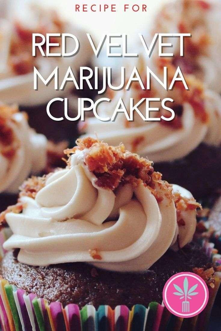 Marijuana infused Red Velvet Cupcake