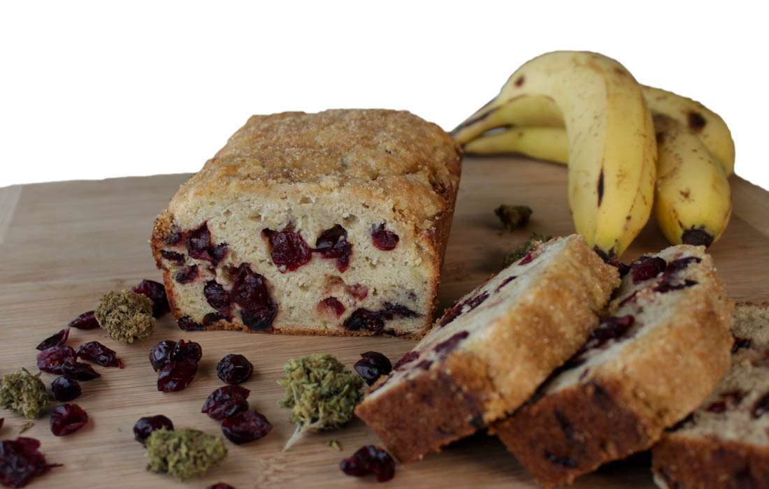 Marijuana Banana Bread with Cranberries