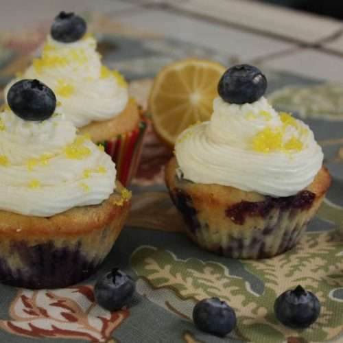 Marijuana Cupcakes - Blueberry Yum Yum Cupcakes with Lemon haze Icing