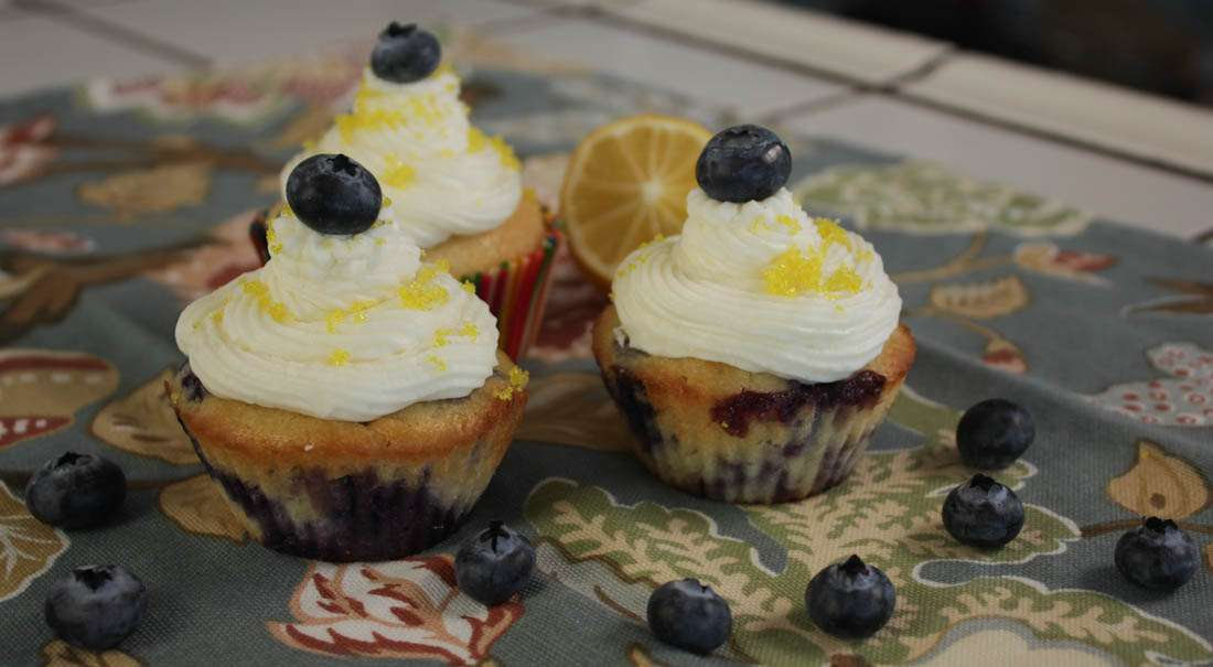 Marijuana Cupcakes - Blueberry Yum Yum Cupcakes with Lemon haze Icing