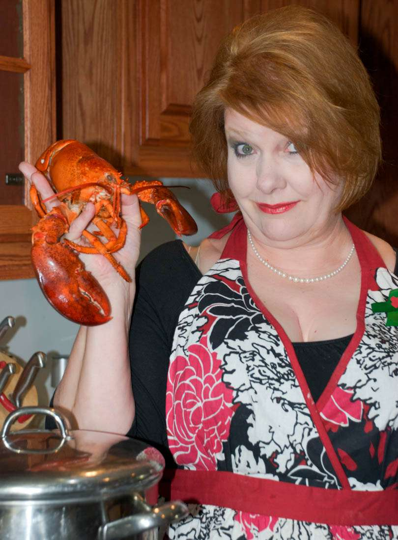 Getting ready to make Lobster Bisque