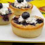Marijuana Recipes - Blueberry Yum Yum Cobbler Cupcakes