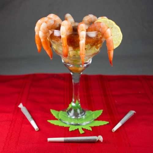 Marijuana Recipes - Retro Style Shrimp Cocktail