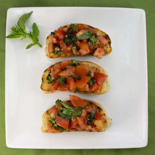 Marijuana Recipes - Baked Bruschetta