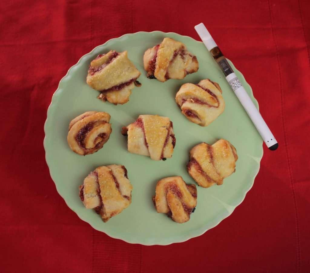Marijuana Cookies - Reefer Raspberry Rugelach