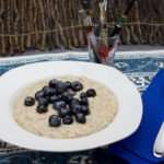 Marijuana Recipes - Steel Cut Oats with Blueberries and Hemp Seeds