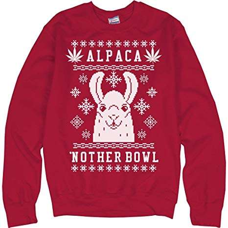 Alpaca Nother Bowl Marijuana Ugly Christmas Sweater